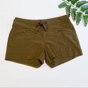 Athleta army green breeze shorts